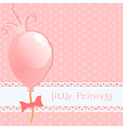 Background little princess vector image vector image