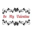 Be My Valentine header vector image vector image