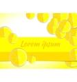 lemon yellow backgrounds fruits vector image