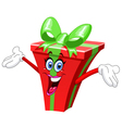 cartoon gift vector image