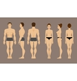 Anatomy of man and woman vector image