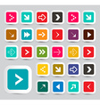 Arrows - Colorful Paper Arrows Set in Rounded vector image