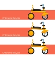 Childrens Bicycle One vector image