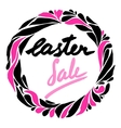 easter sale flyer vector image