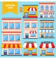 Flat Store Icons Collection vector image