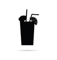 juice in a glass black vector image
