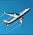 plane takes off pop art vector image
