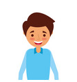 portrait young man character smiling person vector image