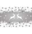 Reindeer with stars snowflakes and glitter vector image