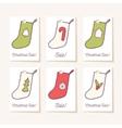 Set of holiday sale tags Hand drawn christmas vector image