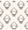 Zentangle stylized deer seamless pattern Hand vector image