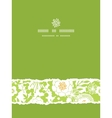 Green and golden garden silhouettes vertical torn vector image