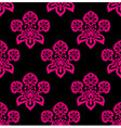 retro floral pattern seamless vector vector image vector image