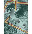 vintage urban grunge surfer vector image vector image