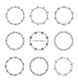 Set of decorative circular borders for design in vector image