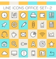 Inline Office Icons Collection vector image