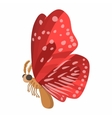 Red butterfly icon cartoon style vector image vector image