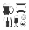 Elements for vintage beer labels vector image