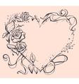 Frame in shape of heart for wedding invitation vector image