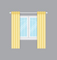 modern drapery window isolated object vector image