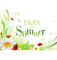 Summer background with beautiful swirls leafs vector image