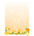 An empty paper with flowers vector image vector image