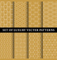 set of abstract line patterns vector image