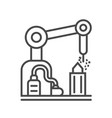 industrial factory linear icon vector image