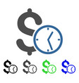 dollar credit flat icon vector image