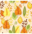 autumn pattern seamless vector image vector image