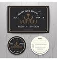 Nautical sea anchor wedding invitation and RSVP vector image