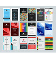 Set of Creative Vertical Business Card Print vector image