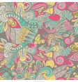 Seamless doodle floral abstract pattern vector image