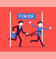 businessmen at finish line vector image