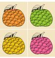Decorative apples vector image