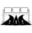 drawing of blank empty road sign on highway vector image