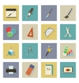 Graphic and design flat icons set with shadows vector image