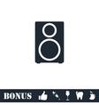 Music column icon flat vector image