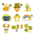 Set of flat icons for StPatricks day vector image