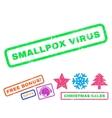 Smallpox Virus Rubber Stamp vector image