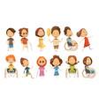disabled kids set vector image