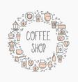 coffee shop concept set of coffee vector image