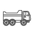 tipper truck linear icon vector image