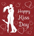 world kiss day vector image