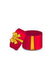 Open gift box with bow vector image vector image