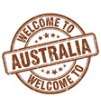 welcome to australia brown round vintage stamp vector image