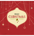 red vintage christmas background vector image