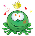 frog cartoon crazy for love vector image vector image