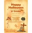 Happy Halloween party poster vector image vector image