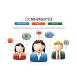 Male female call center avatar icons a faceless vector image